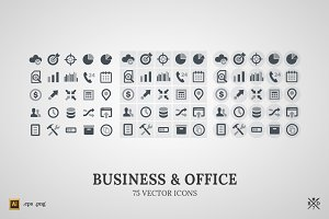 Business&Office - 75 vector icons