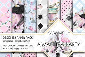 A Mad Tea Party Patterns