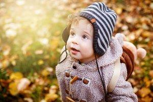 Cute Curious Toddler Boy