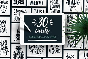 30 Handdrawn Quotes For Cards.