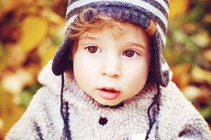 Cute Curious Toddler Baby Boy