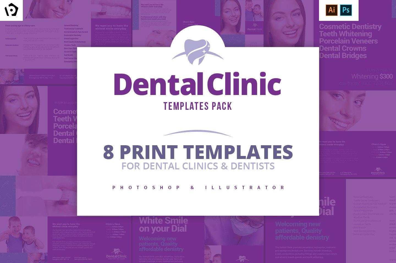 dental clinic flyer photos graphics fonts themes templates