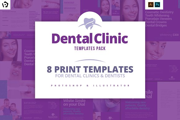 Dental Clinic Templates Pac-Graphicriver中文最全的素材分享平台