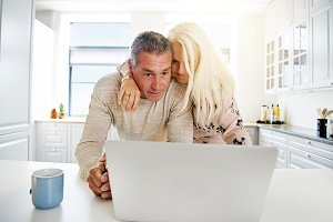 Elderly couple browsing the Internet