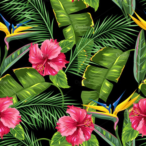 Patterns With Tropical Plants
