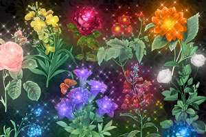 Magic Flowers Clipart