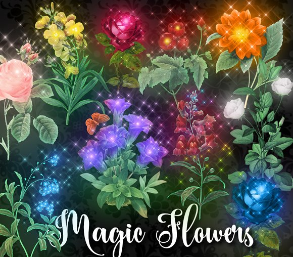 Magic Flowers Clipart