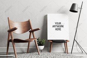 Canvas Mockup Minimal Scandinavian