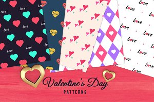 05 Seamless Valentine's Day Patterns