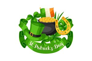 Saint Patricks Day greeting cards.