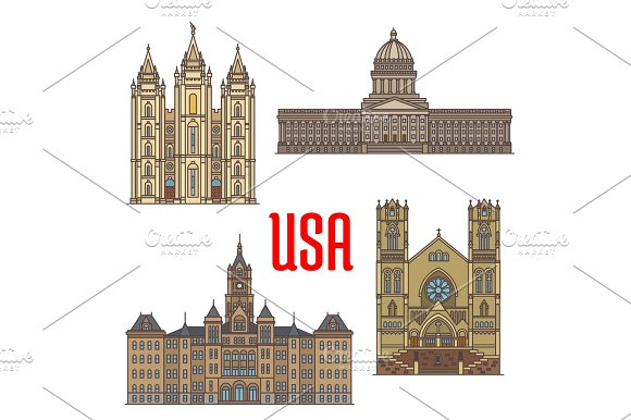 USA Travel Landmarks Icon Of Utah Architecture