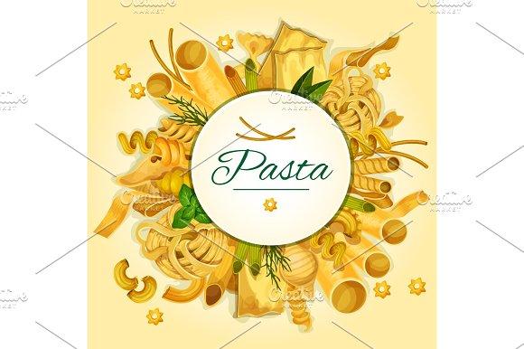 Italian Pasta Spaghetti And Macaroni Banner