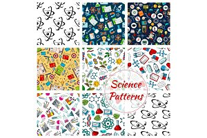 Science patterns of chemistry, medicine, astronomy