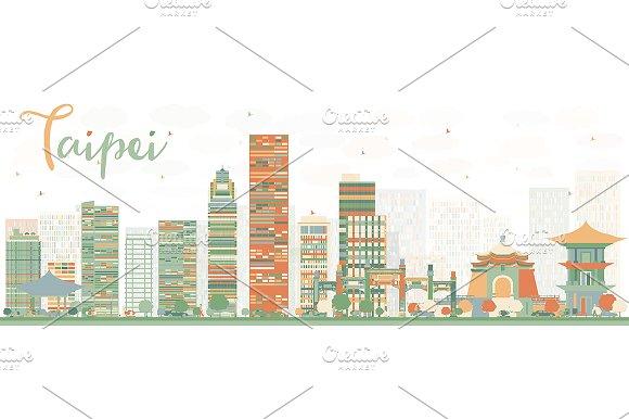 Abstract Taipei Skyline