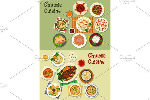 Chinese Cuisine Icon For Oriental Menu Design