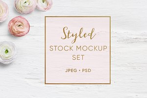 Feminine Styled Stock mockup set