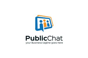 Public Chat Logo Template