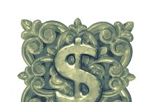 Money Symbol Ornament