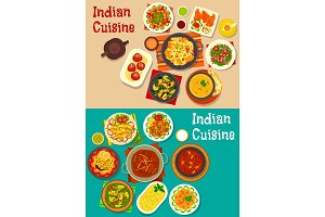 Indian cuisine traditional dinner icon