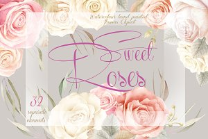 Sweet Roses Clipart Collection