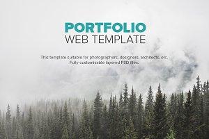 Portfolio Web UI Template PSD