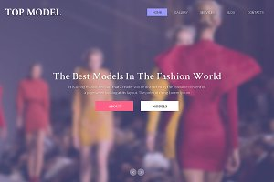 Top Model Responsive One Page Theme