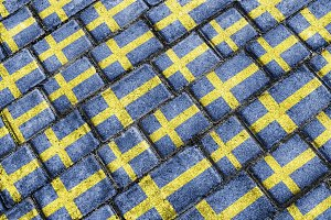 Sweden Flag Urban Grunge Pattern