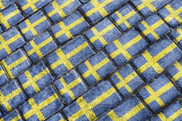 Sweden Flag Urban Grunge Pattern