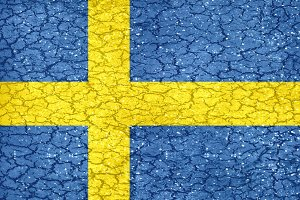 Grunge Style Sweden National Flag
