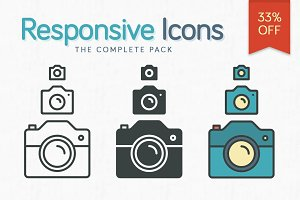 Responsive Icons – The Complete Pack