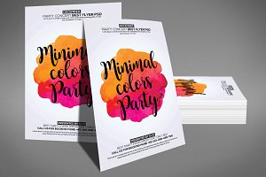 Minimal Color Party Flyer