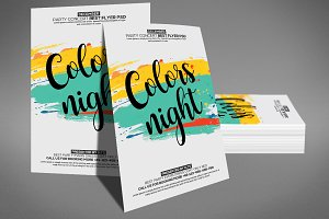 Color Night Party Flyer