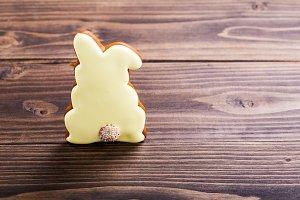 Yellow rabbit cookie