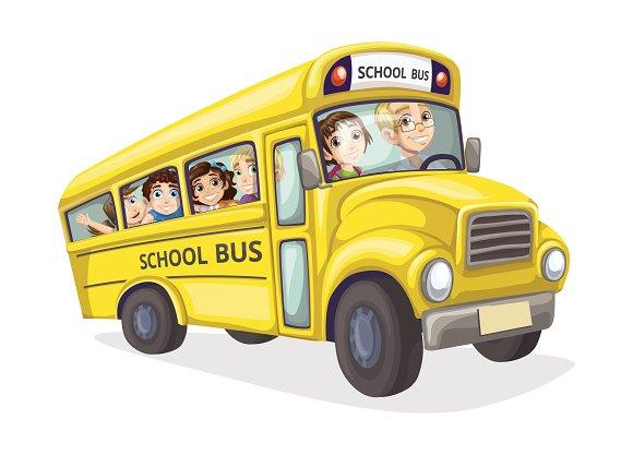 School Bus In Perspective