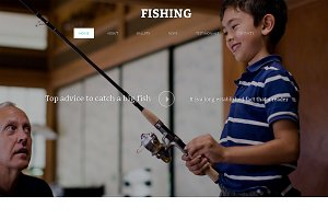 Fishing  One Page Template