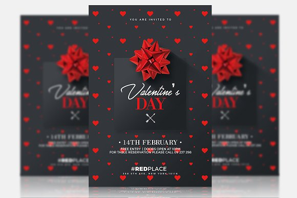 Valentine's Day Psd Invitation