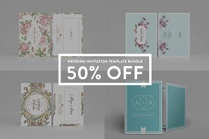 Wedding Invitation - Bundle 50% off