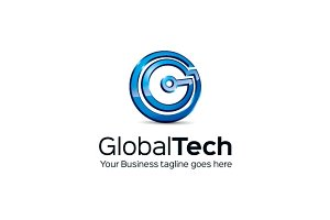 Global Tech Logo Template