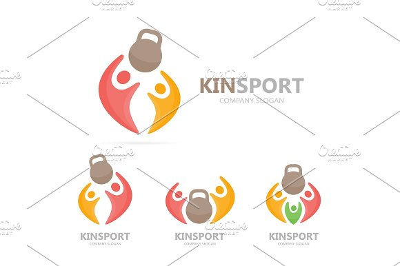 Vector Sport And People Logo Combination Fitness And Family Symbol Or Icon Unique Union Help Connect Team And Community Logotype Design Template