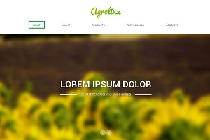 Agrolinx Responsive One Page Theme