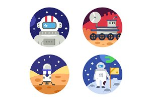 Cosmonaut icons pixel perfect