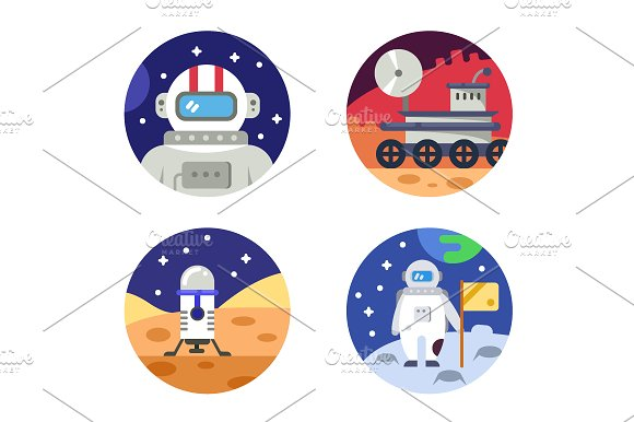Cosmonaut Icons Pixel Perfect