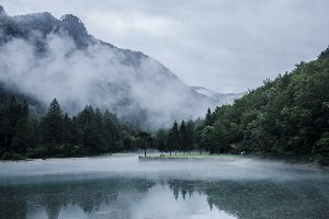 Lake in Mystical Landscape