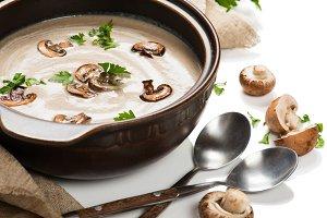 Cream of mushroom soup.