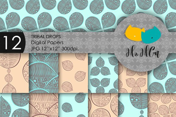 Tribal drops patterns.