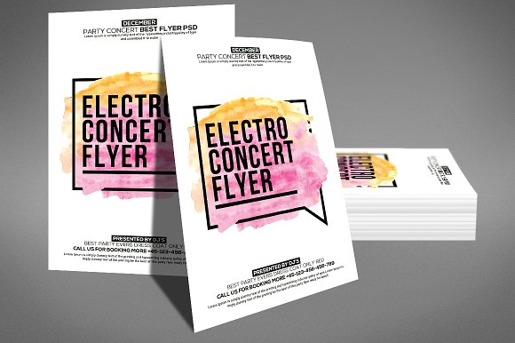 Electro Concert Flyer Template