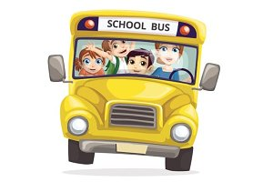 Front of school bus