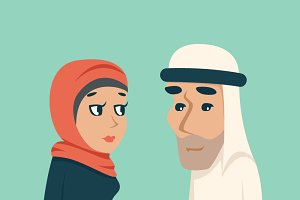 Cute Arab Male Female