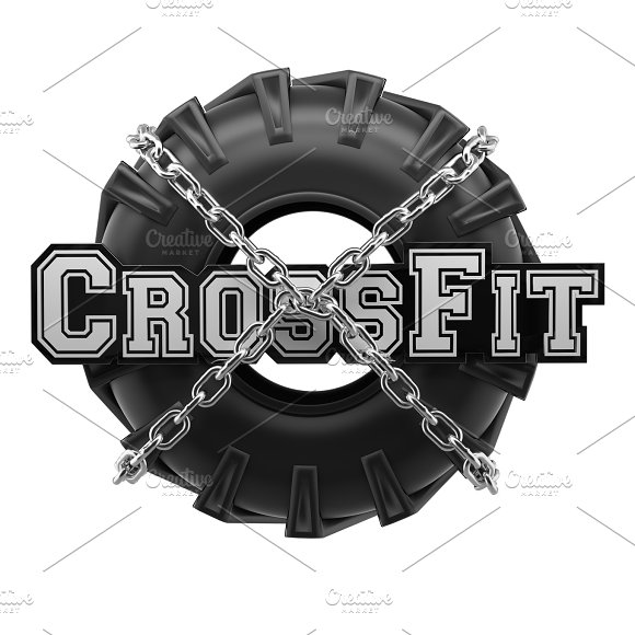 Workout Symbol Tire Chains Wrapped