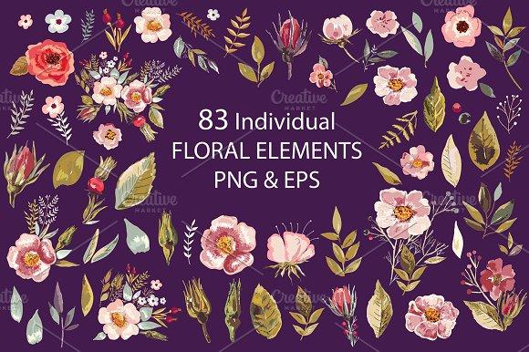 83 Floral Elements